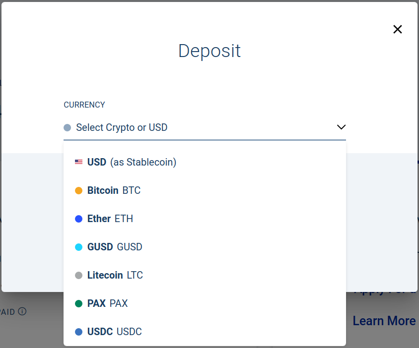 List of crypto available for lending