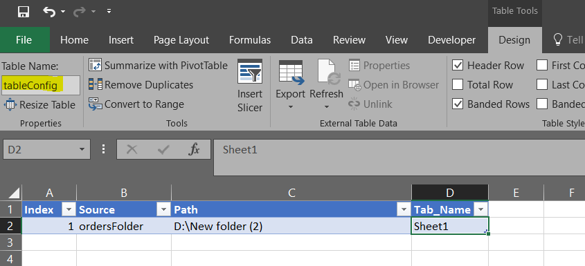 Passing source folder path as parameter to query code in