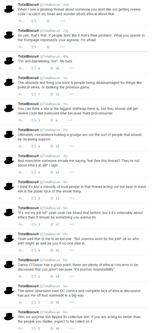 Gamergate can't talk whole industry ethics as the press is