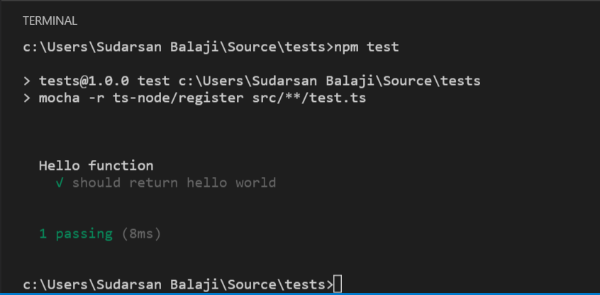 Write tests for TypeScript projects with mocha and chai — in