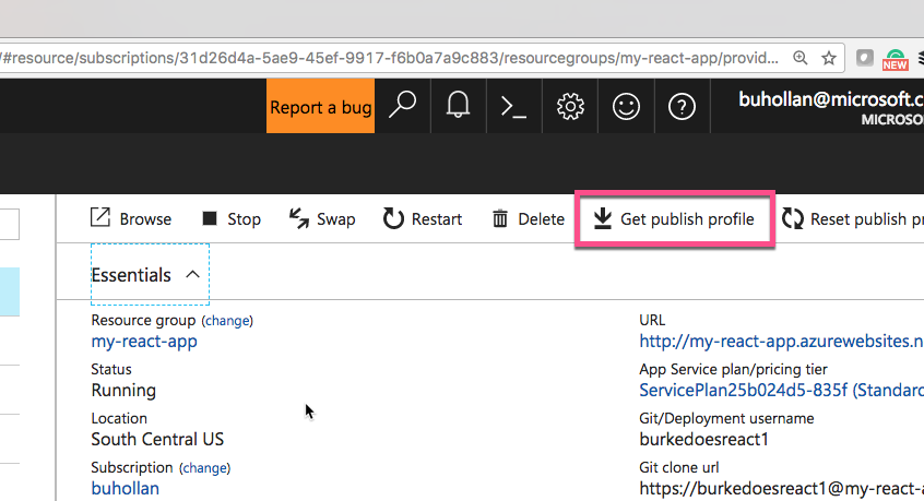 Deploying a React App As a Static Site On Azure - Microsoft