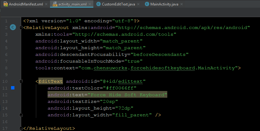Android: Force Hide System Keyboard While Retaining