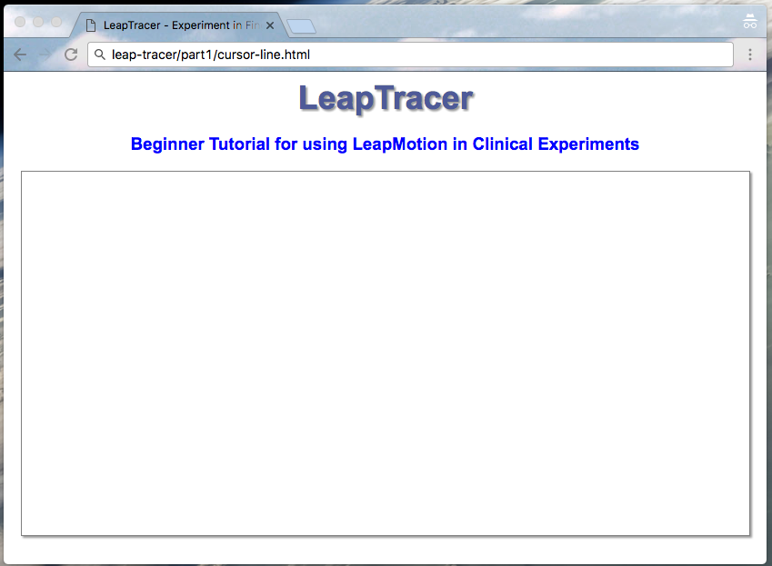 Build a web app to test fine motor coordination with Leap