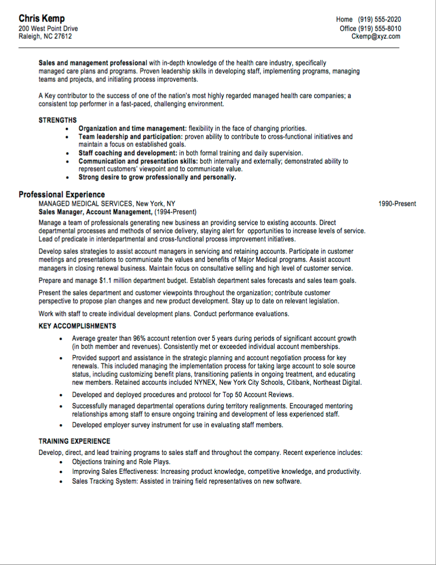 10 Sales Resume Samples Hiring Managers Will Notice By