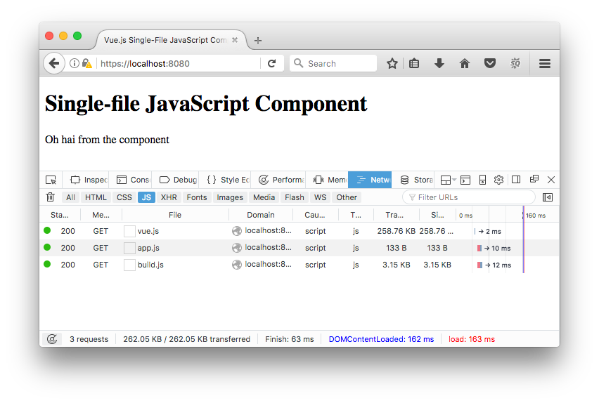 Vue js Single File JavaScript Components In The Browser