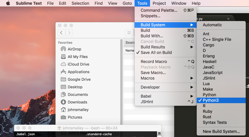 Update Sublime Text 3 to Python 3 on Mac - John Smalley - Medium