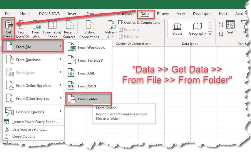 MS Excel — Use #PowerQuery to generate a dynamic list of