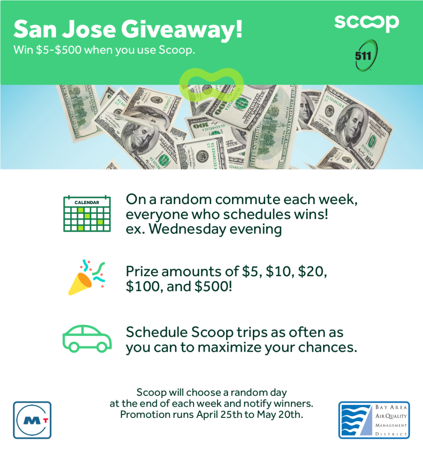 511 Bay Area >> San Jose Win Up To 500 Week With Scoop 511 All This Month