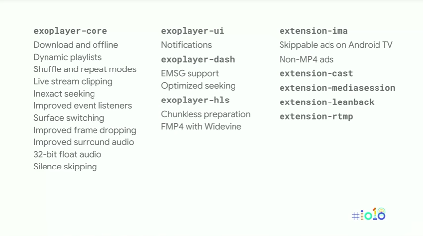 What's new ExoPlayer in Google I/O 2018 - Black Lens