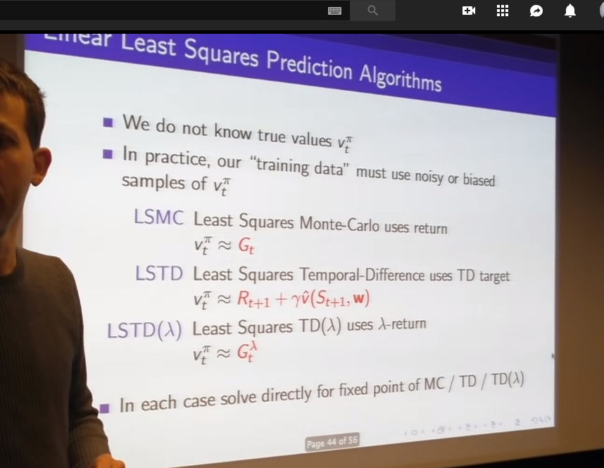 Archived Post ] RL Course by David Silver — Lecture 6: Value