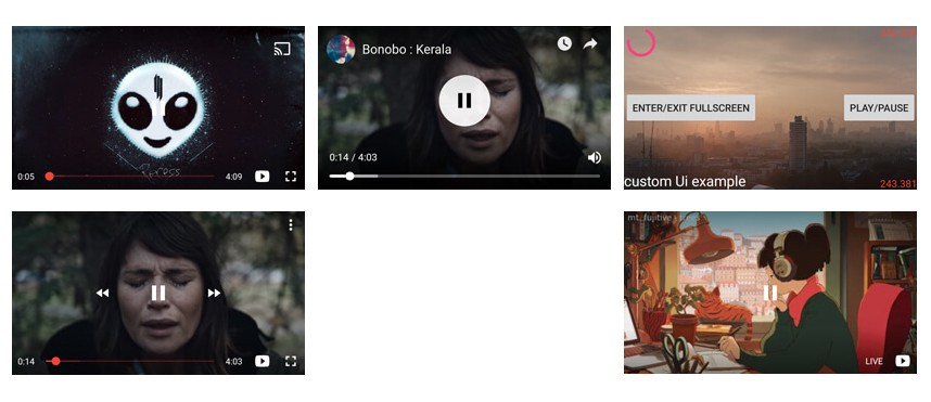 How to customize the UI of an Android YouTube Player