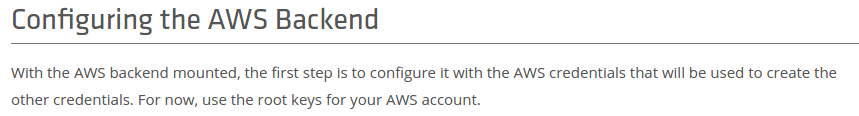 The case for credentialing via instance profiles in AWS
