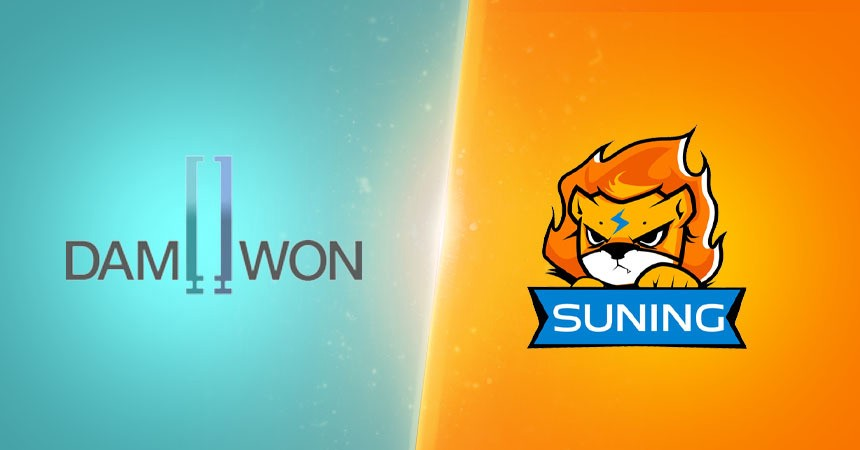 Worlds 2020 finalists with only two teams left for League of Legends esports, DAMWON Gaming and Suning.
