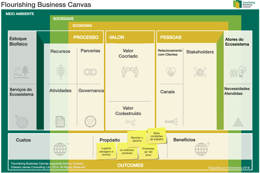 The flourishing business canvas — goals
