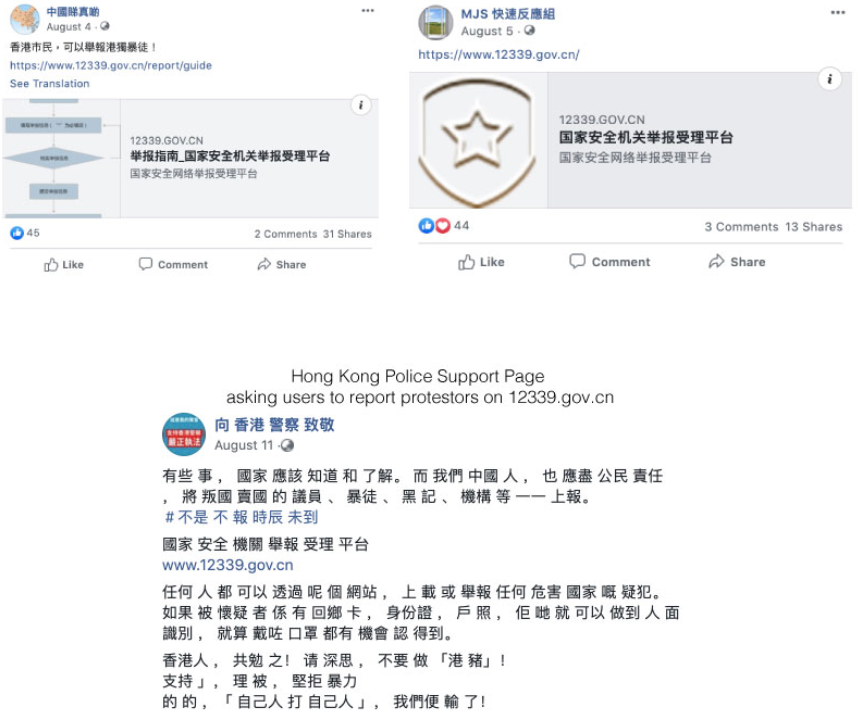 Telegram channels used to doxx and report Hong Kong protesters to Chinese Authorities 20