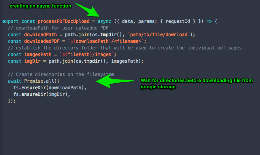 Using Firebase Cloud Functions with Ghostscript for PDF to