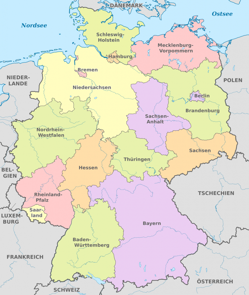 Regioni Germania Cartina.Come Funziona Il Sistema Dei Land In Germania By Luca Lottero Medium
