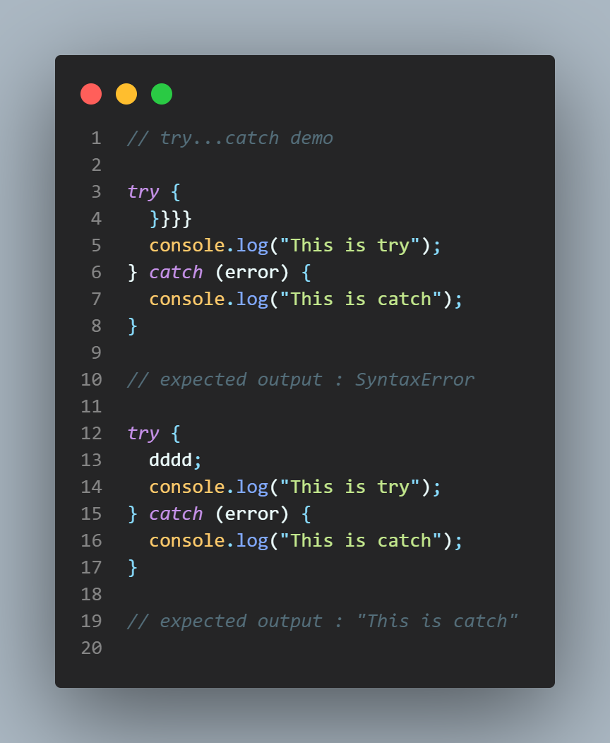 try-catch example