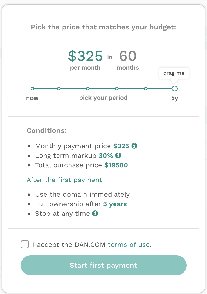 Lease to Own Option on DAN.com