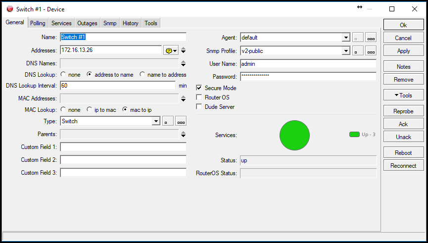 Monitoring UniFi switches with SNMP & The Dude - Beyond the