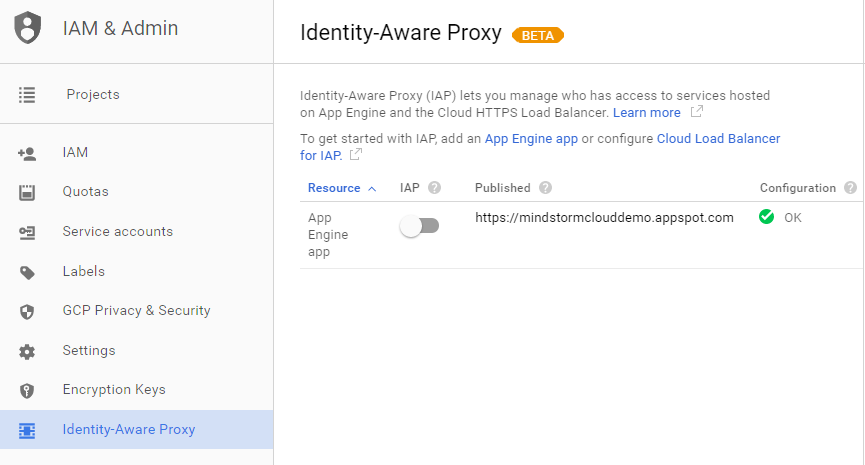 Tutorial : Getting Started with Google Cloud Identity-Aware