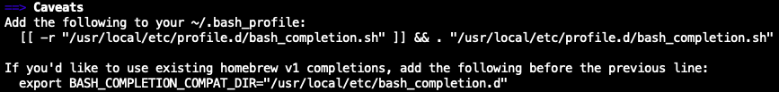 Programmable Completion for Bash on macOS - ITNEXT