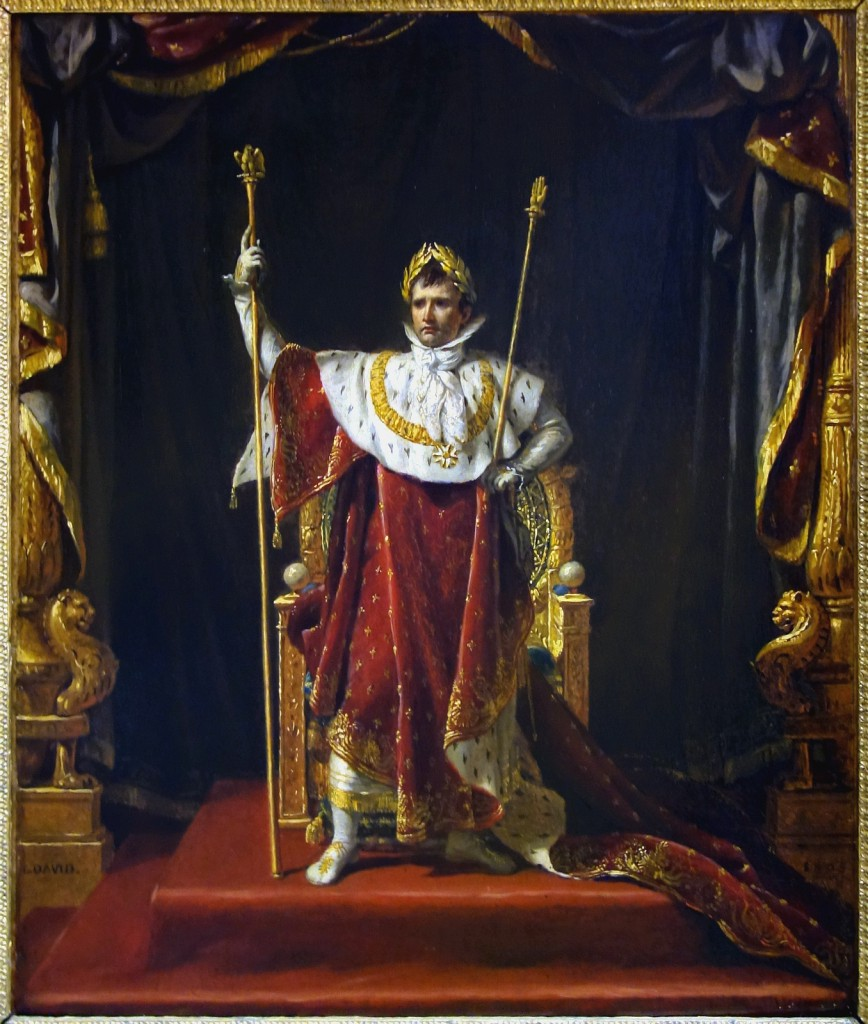 Napoleon dressed in homage to a Roman emperor