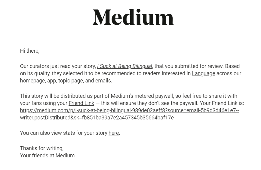 Stop Obsessing Over Getting Your Articles Curated By Medium