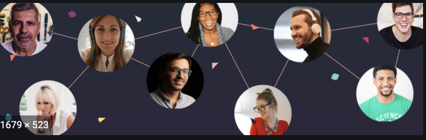 photo of diverse network of people