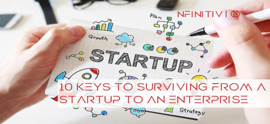 10 Keys To Surviving From A Startup To An Enterprise