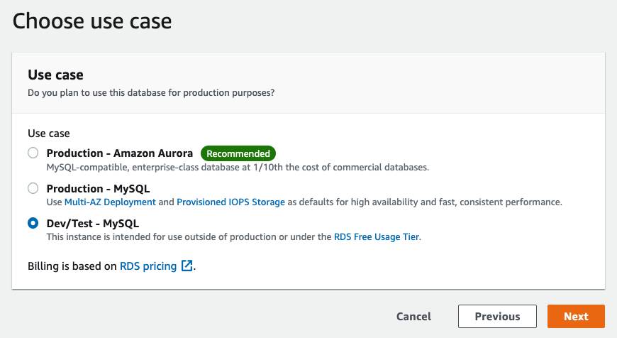 Build an AWS MySQL RDS Database and connect to it from your