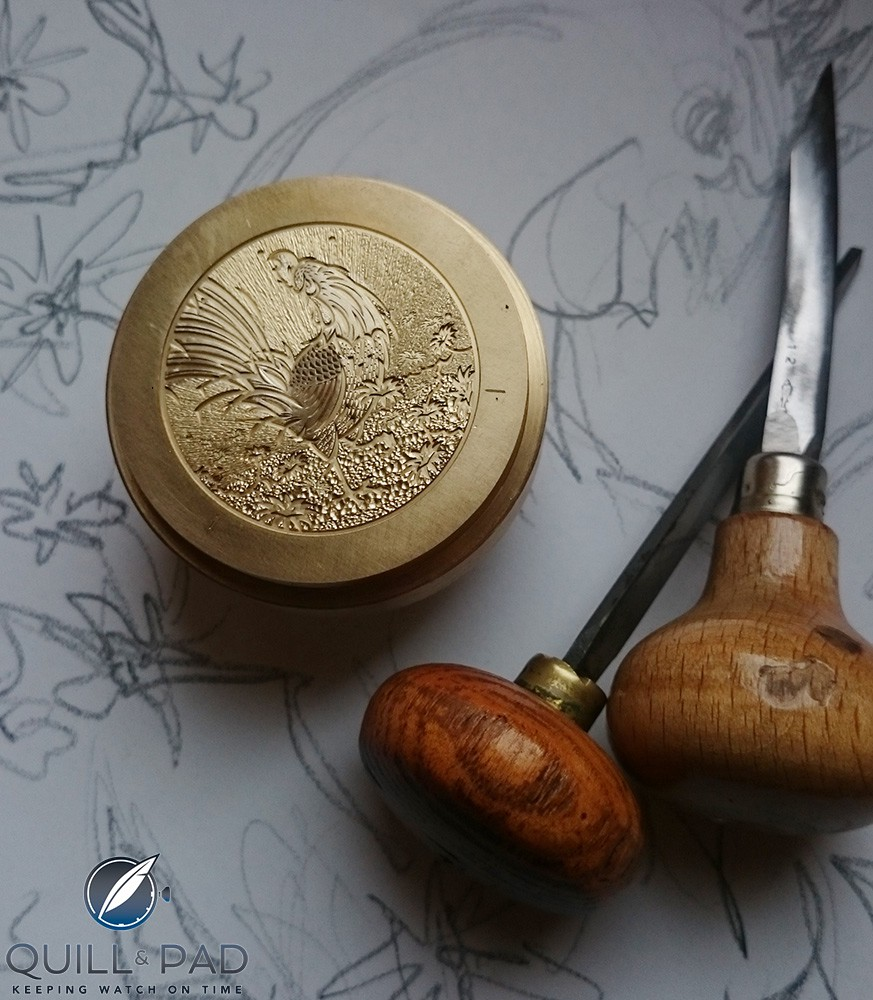 Engraving an Ulysse Nardin Classico Rooster