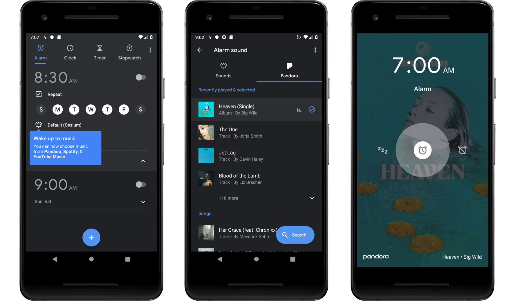 Wake up to Pandora with the Clock app from Google