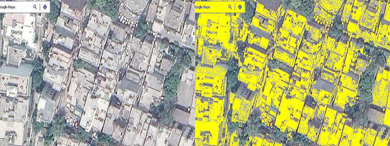 Image of Delhi rooftops for understanding the algorithm