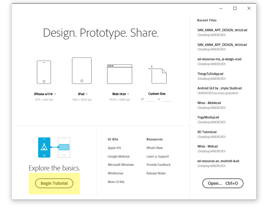 Learning the basics of Adobe XD in one hour - DRILL - Medium
