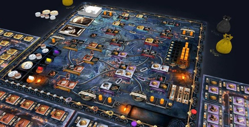 The board of the game Brass: Birmingham