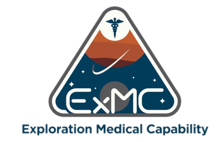 The logo of NASA's Exploration Medical Capability team, which Anton worked on during his internship.