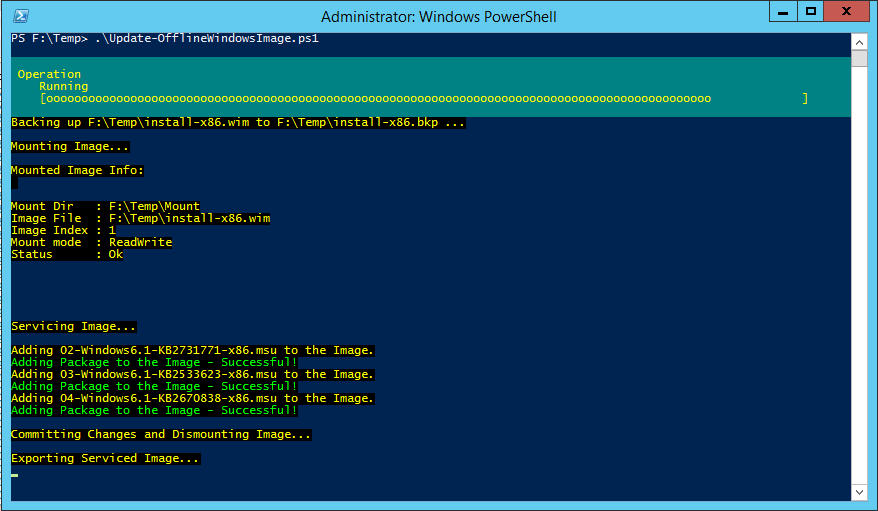 Add packages to a Windows Image using DISM PowerShell