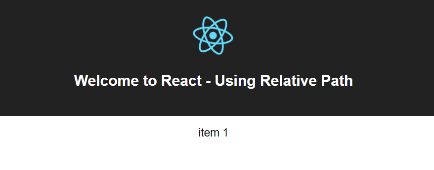 React tips — Working with relative path using create-react-app