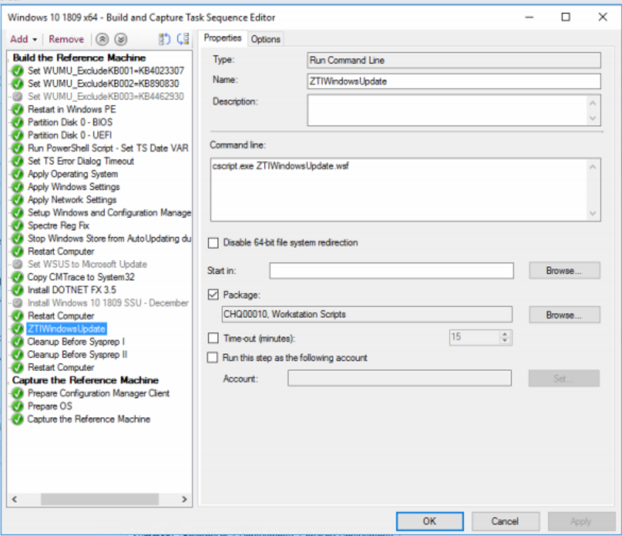 SCCM Current Branch-Build and Capture Task Sequence for