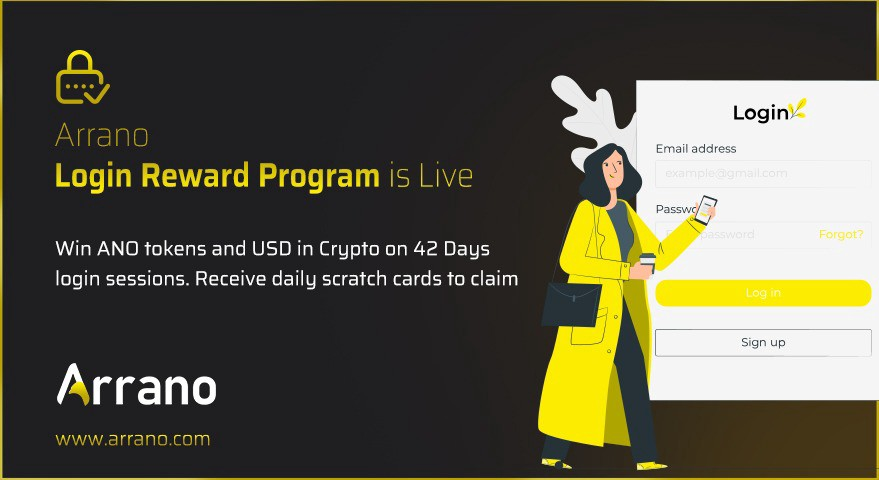 Arrano Network Login Rewards is live, the program provide users with 42 scratch cards( one each day )which will offer reward