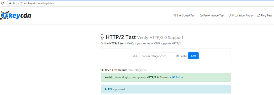An example of the KeyCDN HTTP/2 test results. Implementing HTTP/2 can improve technical SEO since HTTP/2 can help pages to load faster, especially over mobile networks.