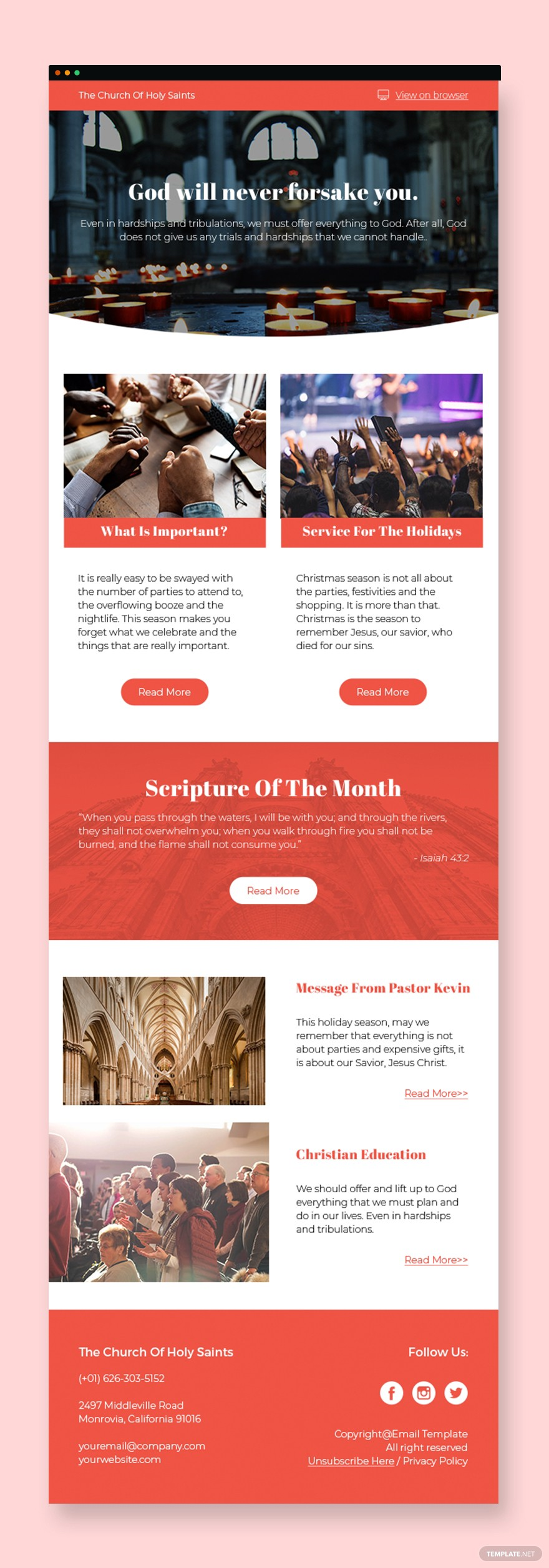 10 Free Church Newsletter Templates You Can Use Now | by ...