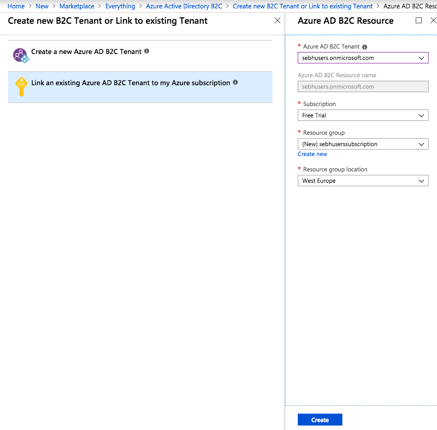 How to setup Active Directory B2C in Microsoft Azure