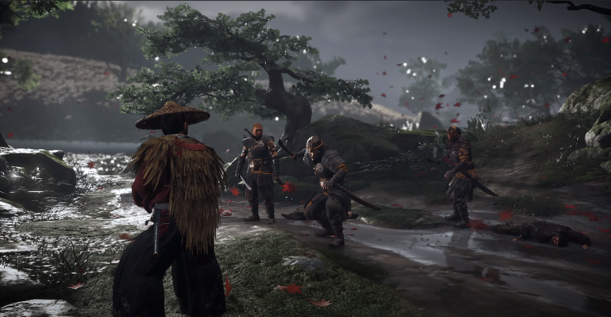 Ghost of Tsushima: Jin in a duel with a Mongol Warrior