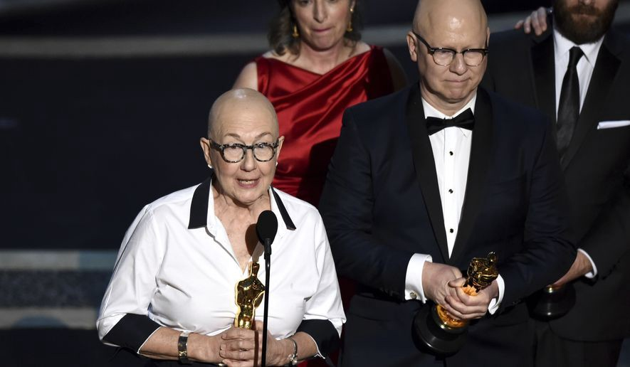 Julia Reichert accepts Best Documentary award for American Factory at the Oscars 2020