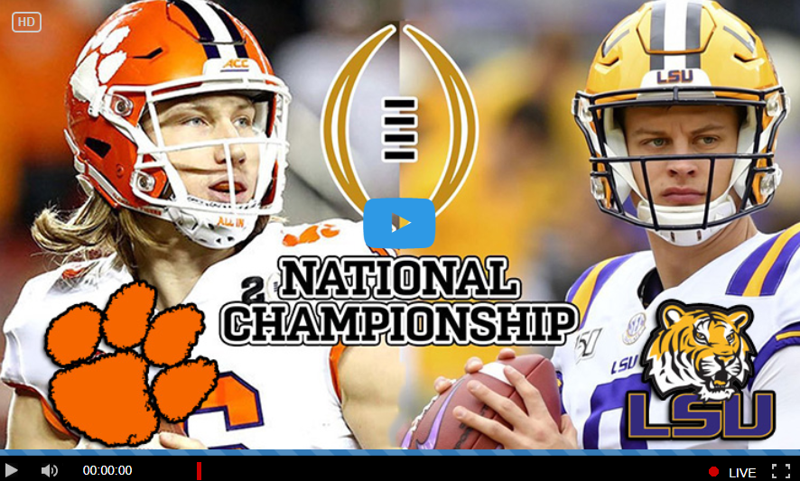 Live Reddit Louisiana State Tigers Vs Clemson Tigers Live Free By Reddit Official Streams By Ncaa Football Championship Cfp 2020 Medium