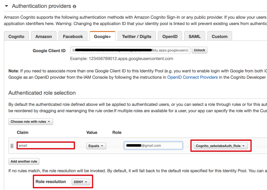 Cognito Federated Identities with Google IdP — the simplest