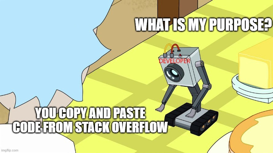 All of our purposes really boil down to copying and pasting…