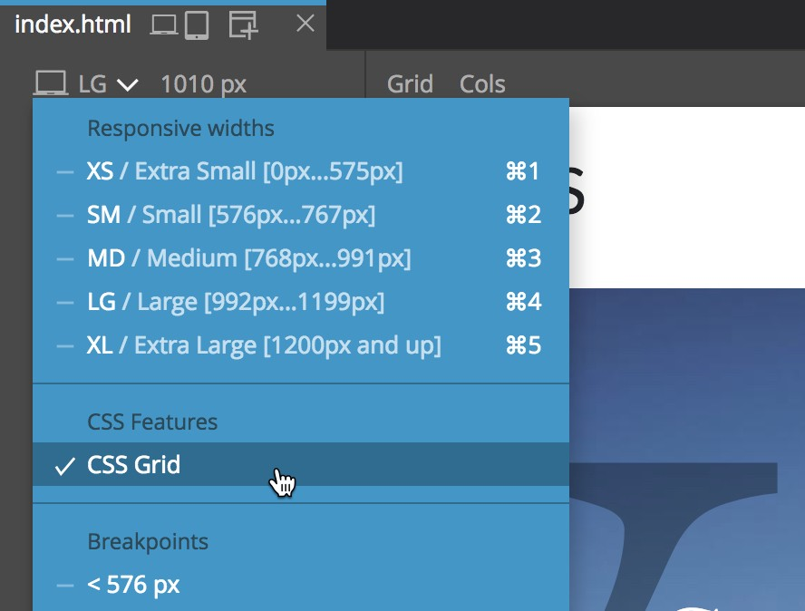 Introducing the Visual CSS Grid Editor in Pinegrow Web Editor